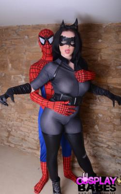 Spiderman bangs hard